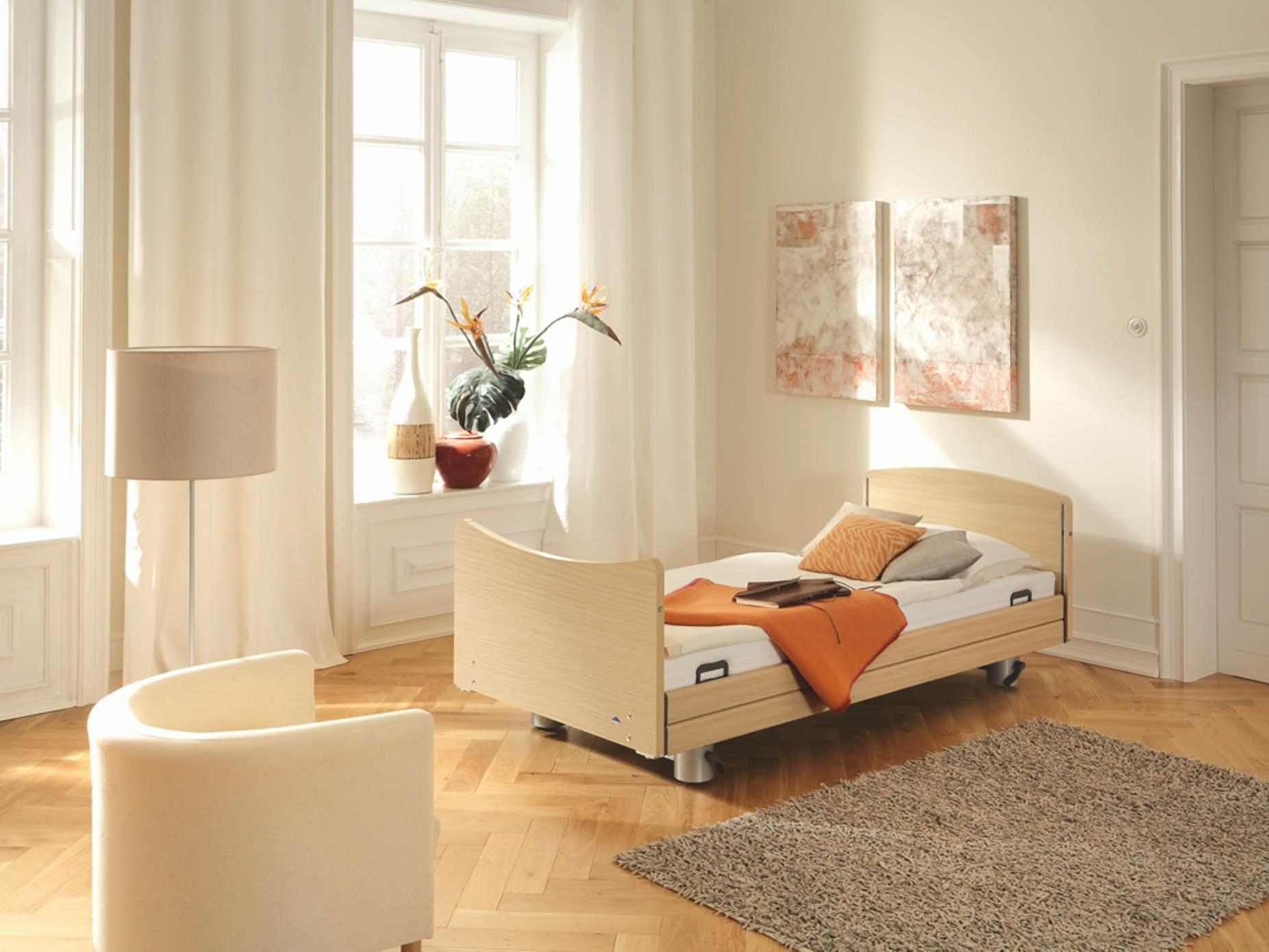 Elvido brevo low-height bed for fall prevention