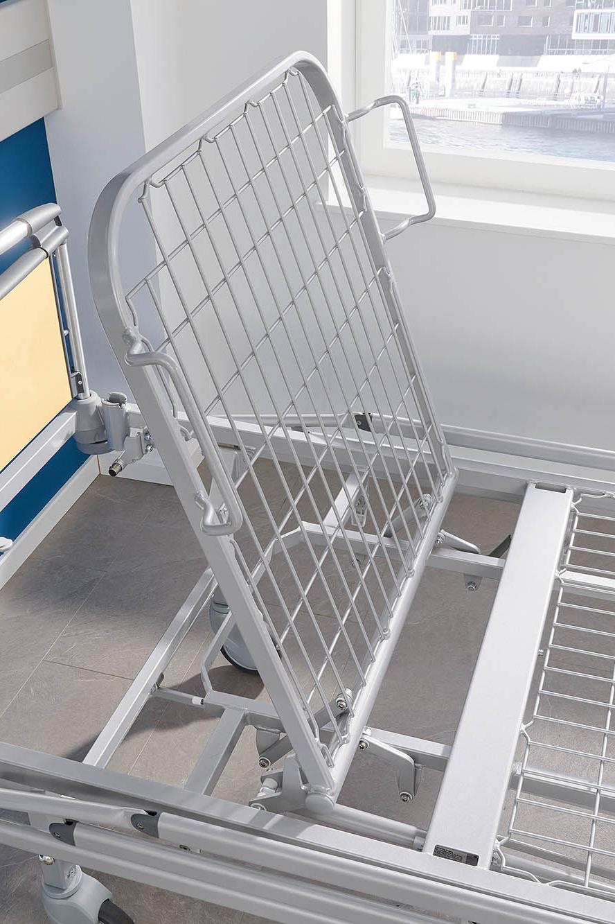 Sliding backrest of Deka hospital bed