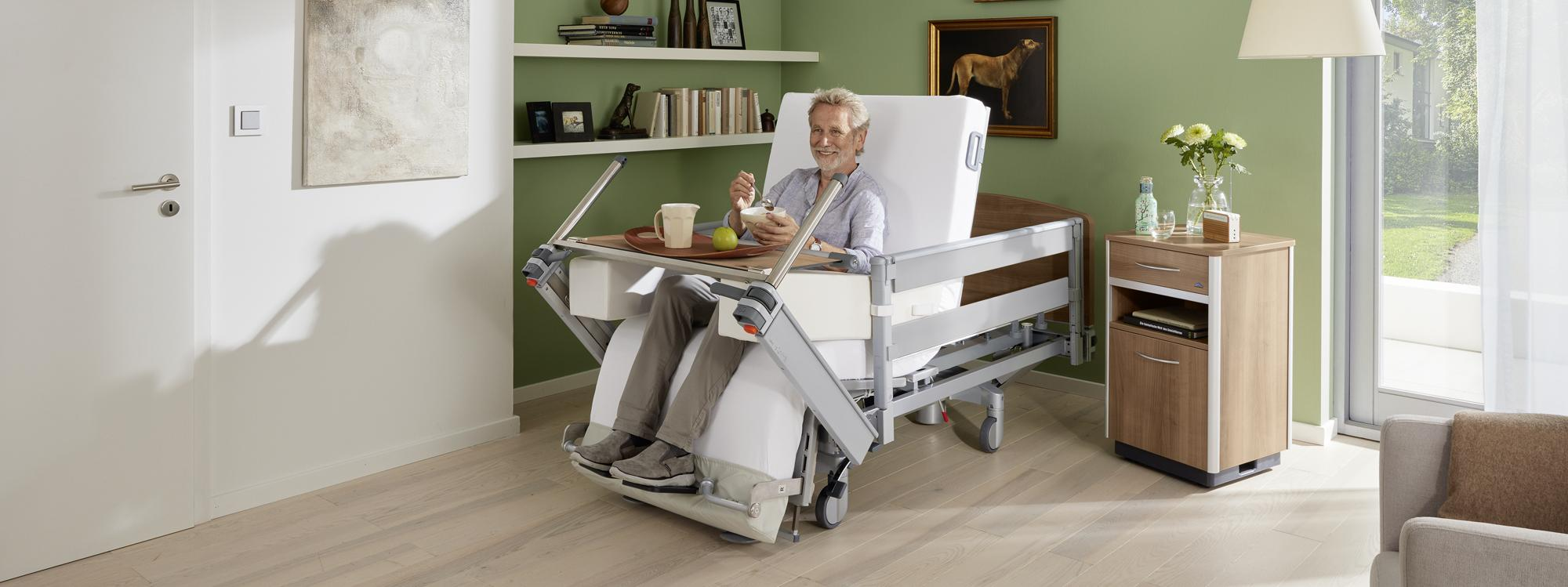 Making mealtimes easier in the Vertica care mobilisation bed