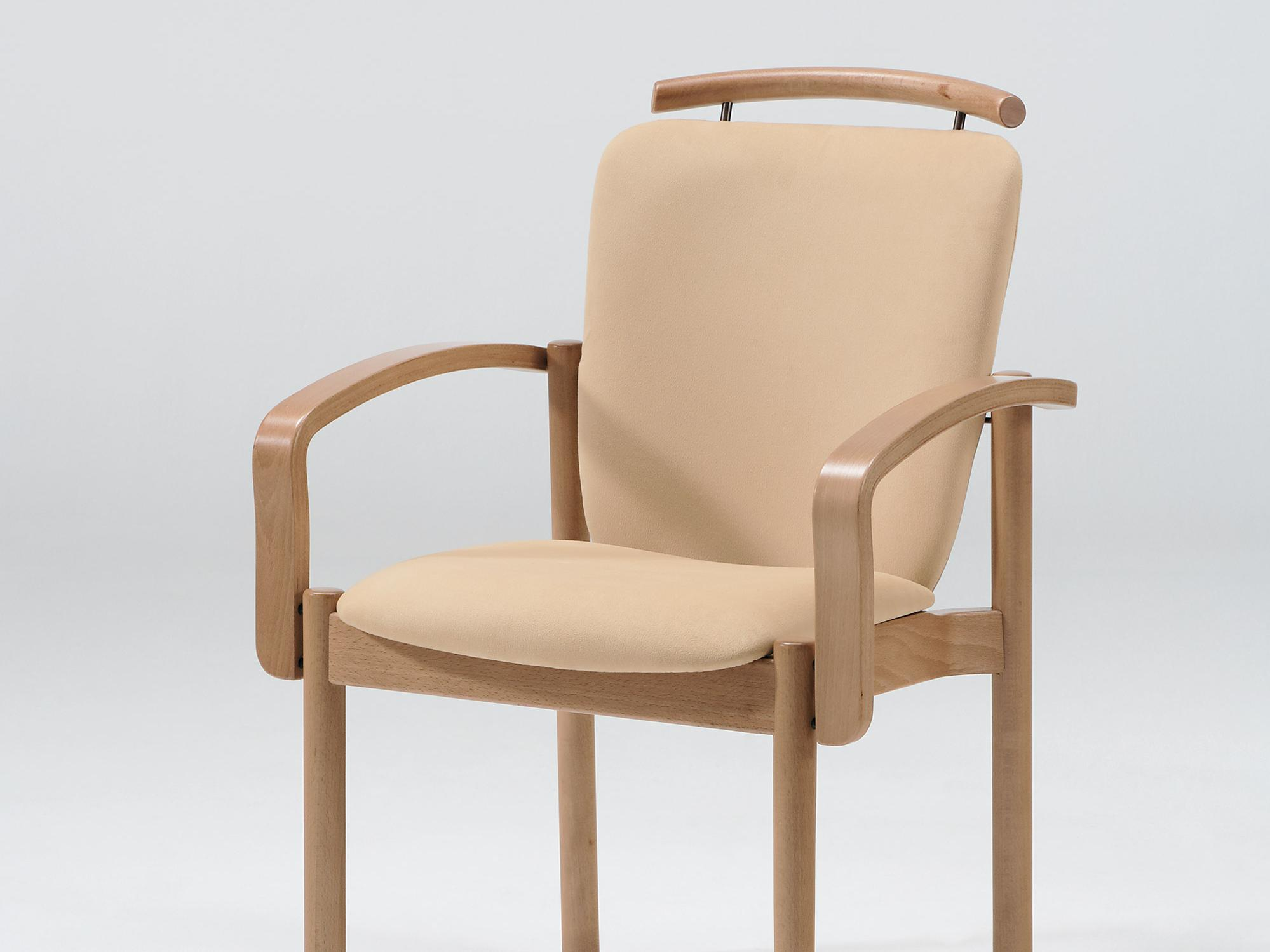The Optimo model as a stacking armchair with handle