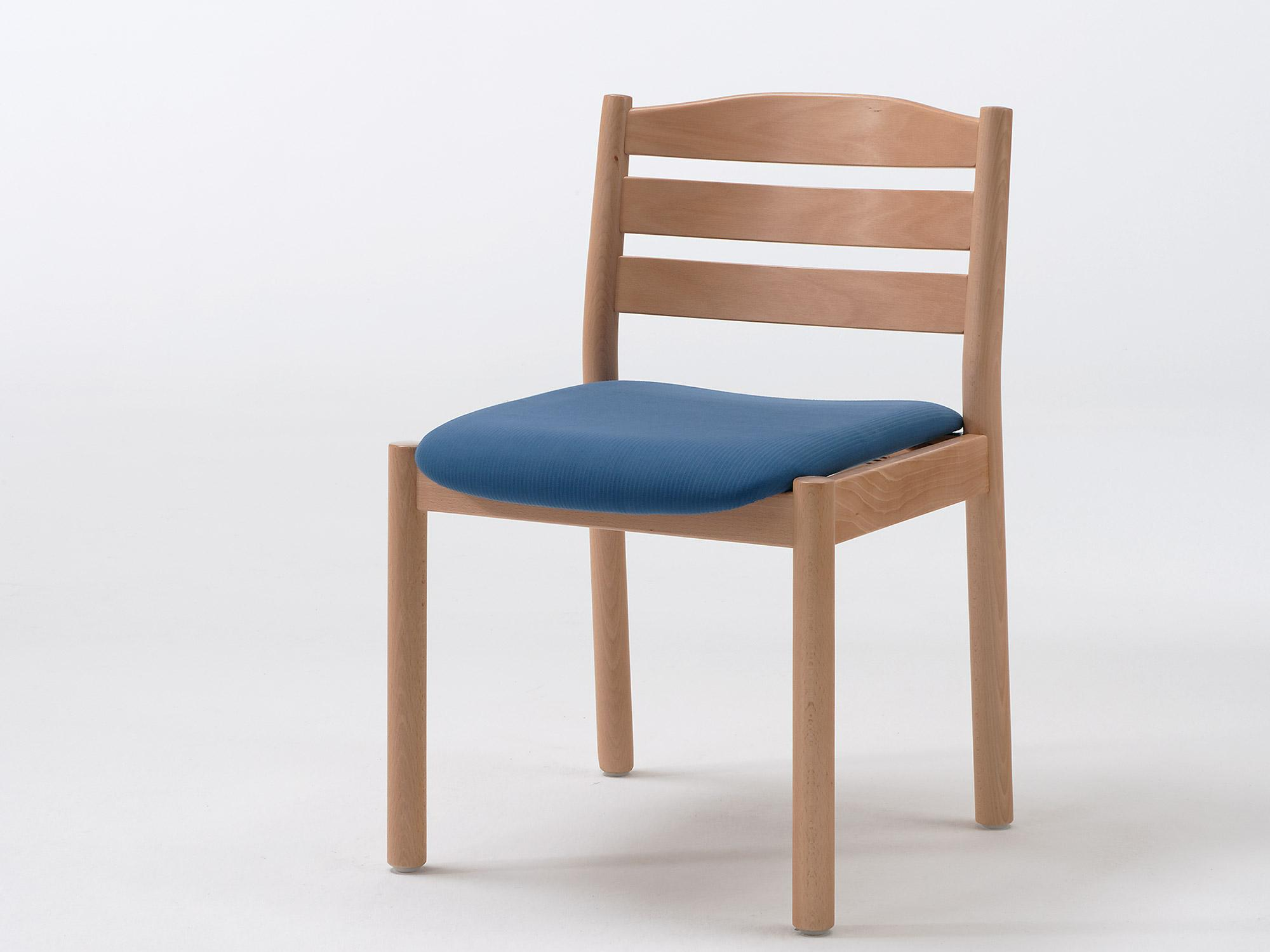 The Primo model as a chair with non-upholstered back