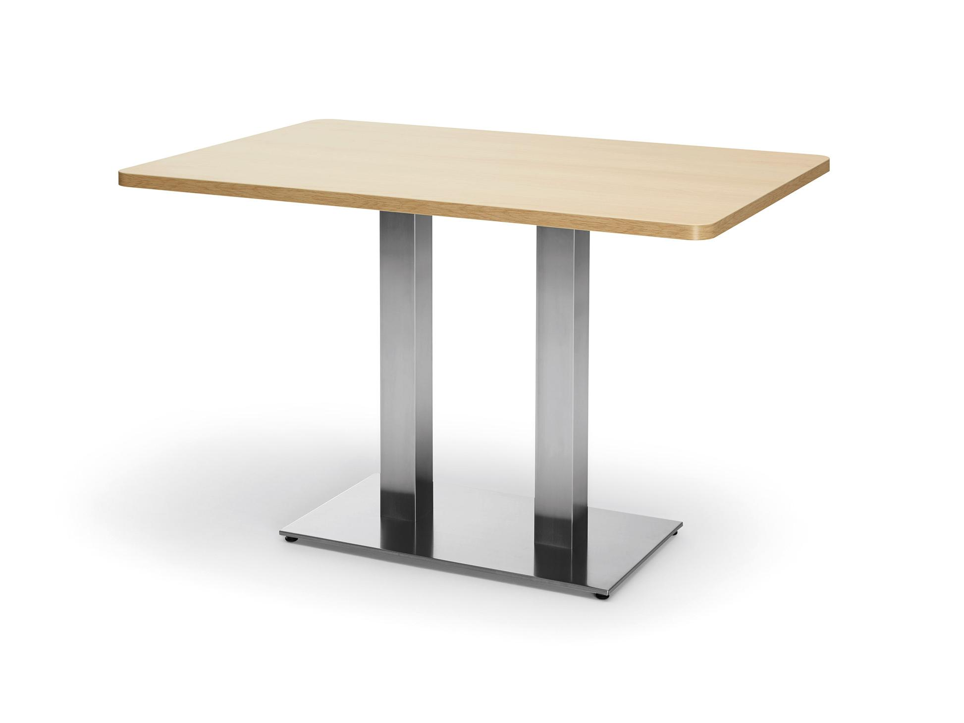Column-leg table as a dining table with rectangular table top