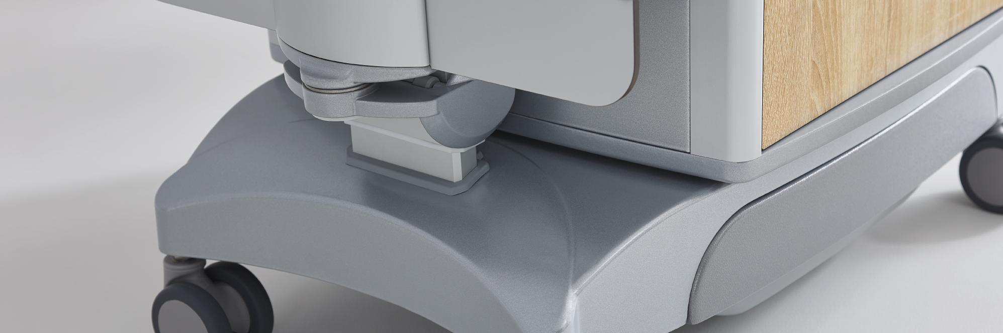 Double castors on the Vitano bedside cabinet