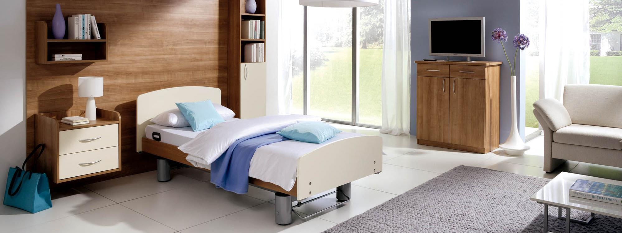 Elvido reha care bed without safety sides