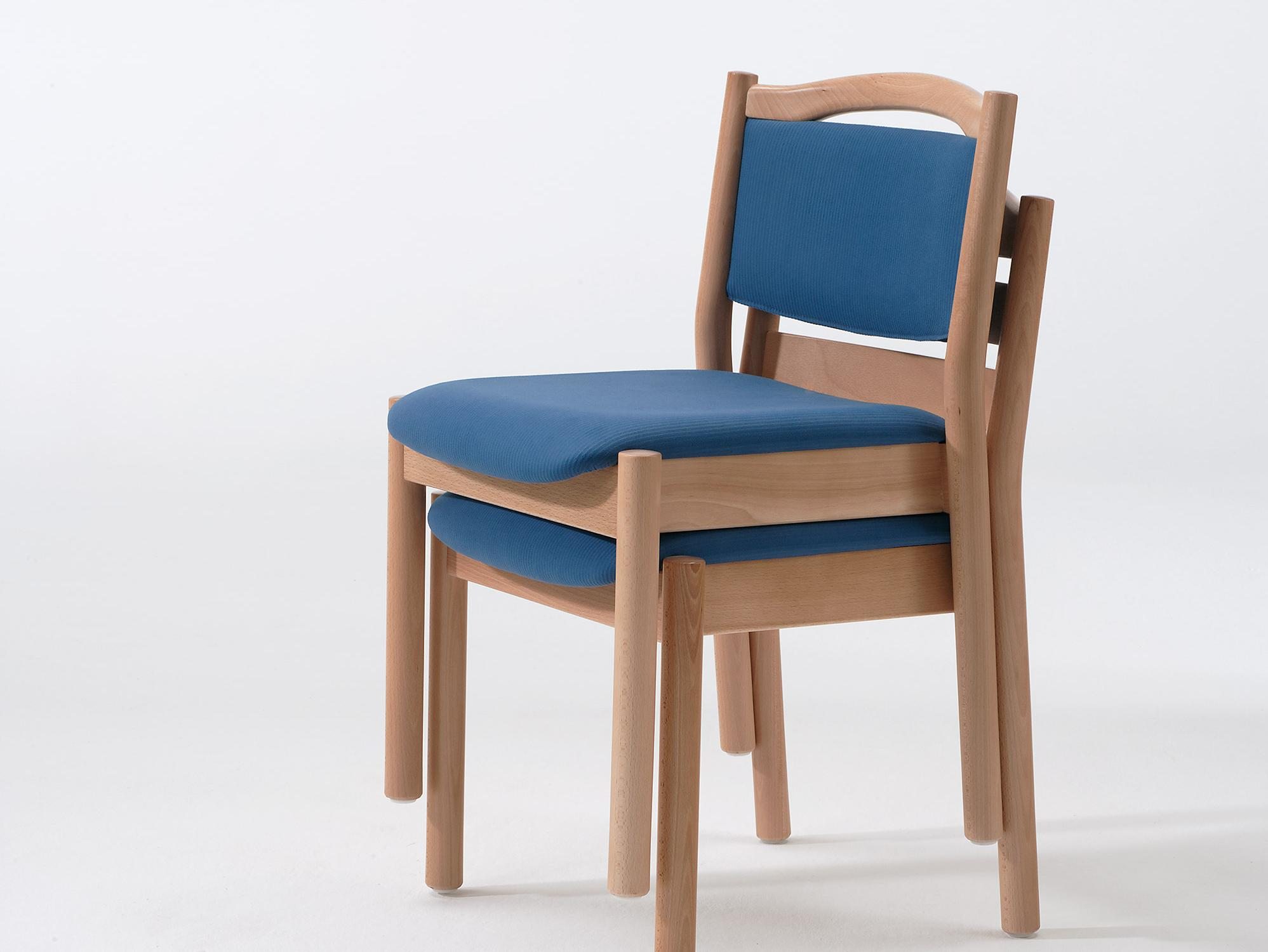 Stacking chairs from the Primo furnishing range