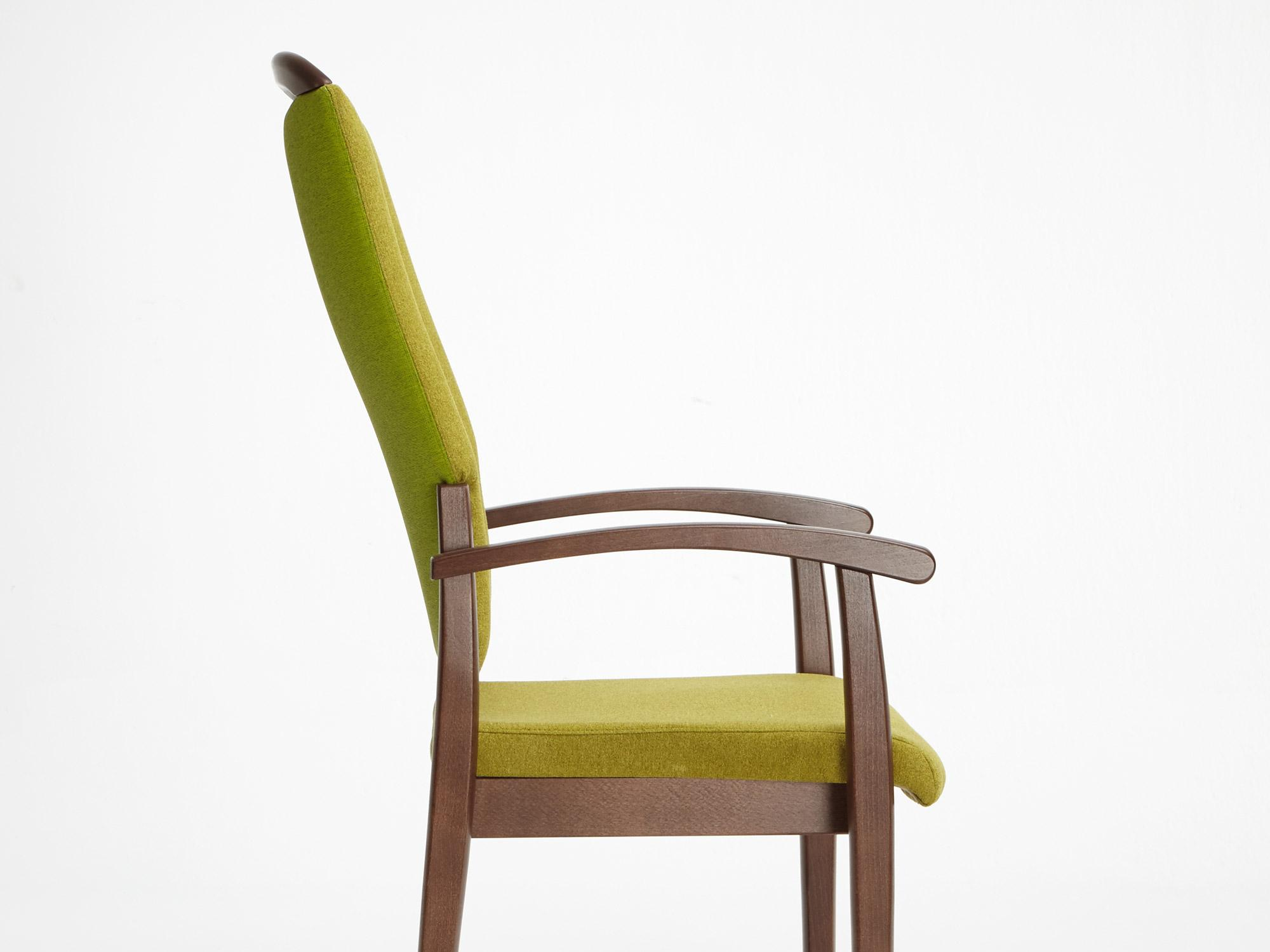 The Fena model as a high-back chair with handle