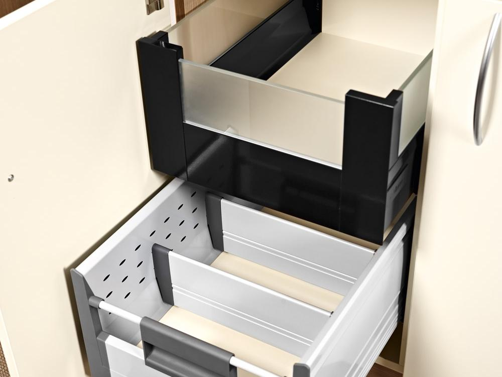 Drawer elements in the contract furniture range