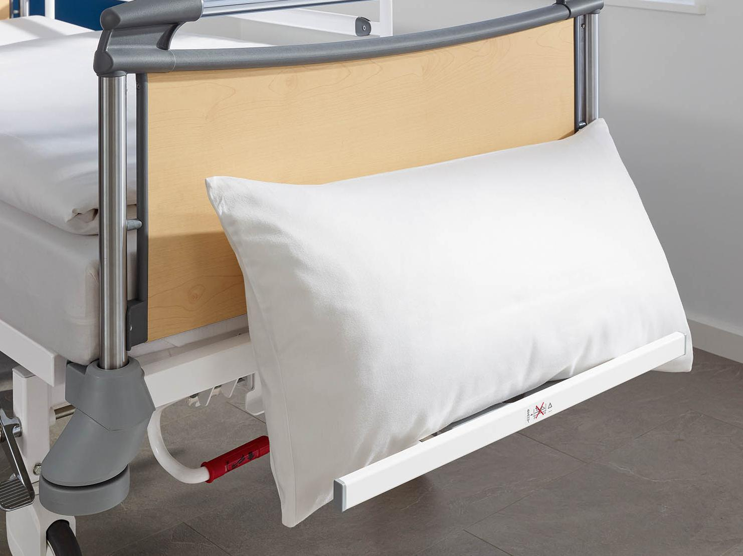 Optional linen holder for the Deka hospital bed