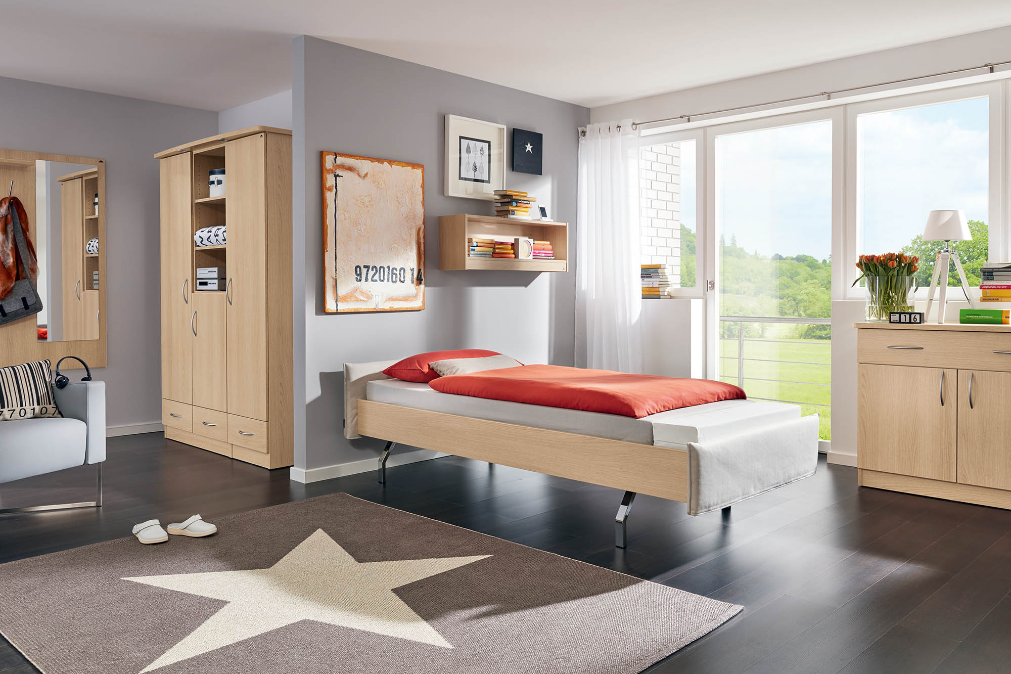 Optional wood decors and Softcovers for the Carino dorm bed