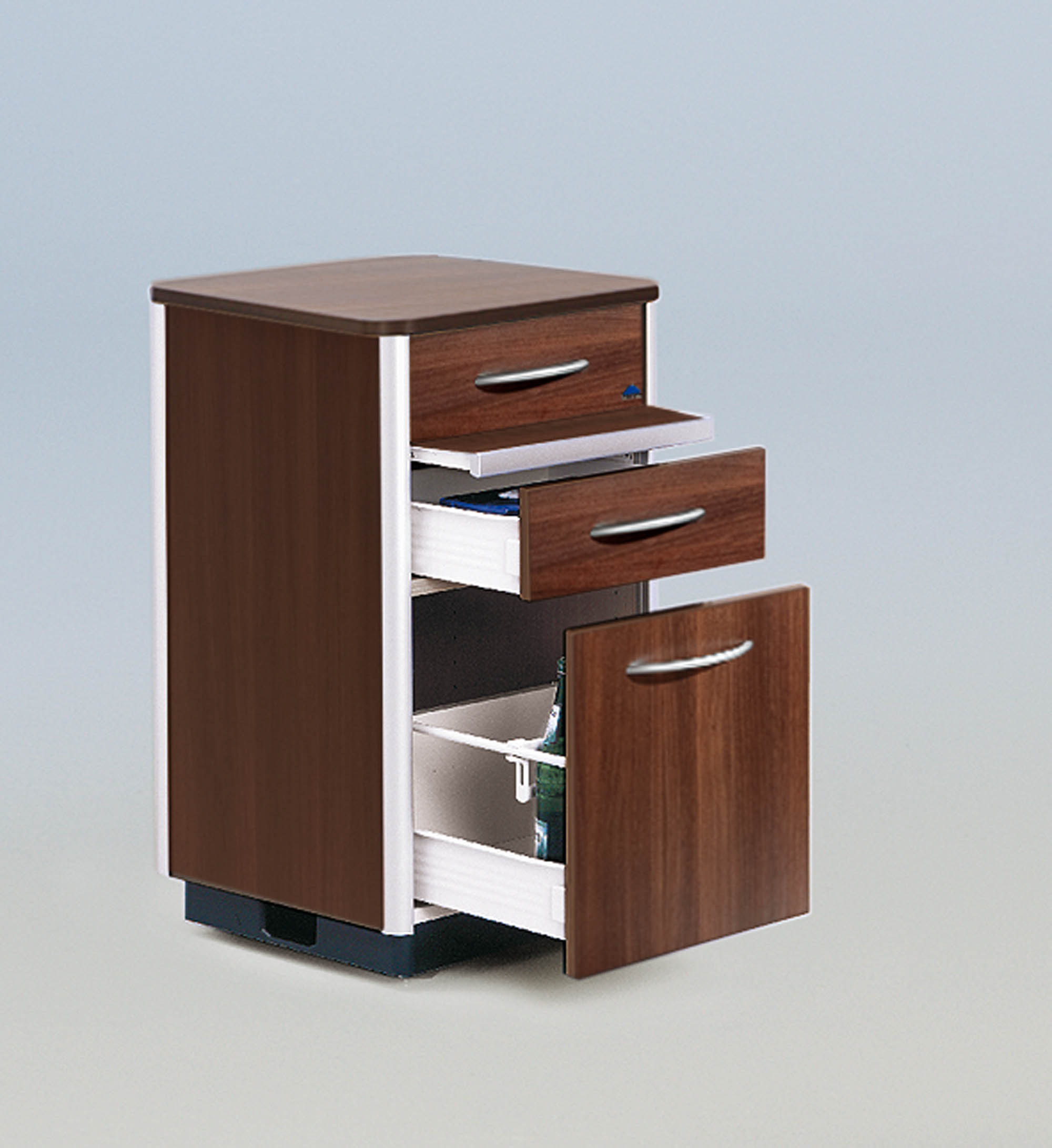 Flexible storage space in the Combino bedside cabinet